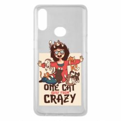 Чехол для Samsung A10s One cat away from crazy