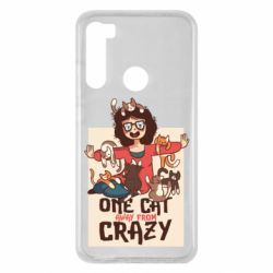 Чехол для Xiaomi Redmi Note 8 One cat away from crazy