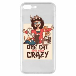 Чехол для iPhone 7 Plus One cat away from crazy