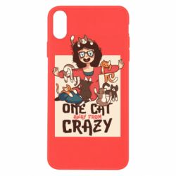 Чехол для iPhone X/Xs One cat away from crazy