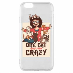 Чехол для iPhone 6/6S One cat away from crazy