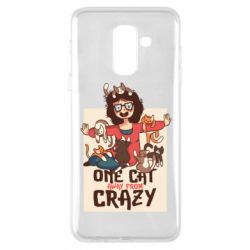 Чехол для Samsung A6+ 2018 One cat away from crazy