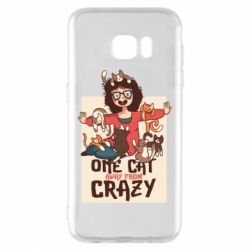 Чехол для Samsung S7 EDGE One cat away from crazy