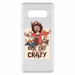 Чехол для Samsung Note 8 One cat away from crazy