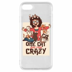 Чехол для iPhone 8 One cat away from crazy