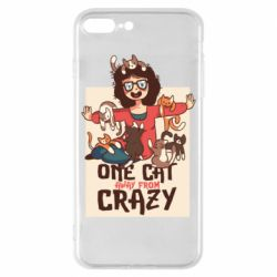 Чехол для iPhone 8 Plus One cat away from crazy