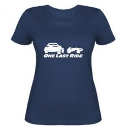 Женская футболка One last ride