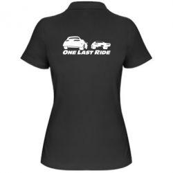 Женская футболка поло One last ride