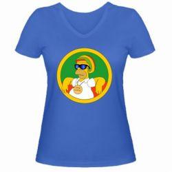 Жіноча футболка з V-подібним вирізом One love
