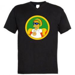 Чоловіча футболка з V-подібним вирізом One love