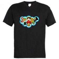 Чоловіча футболка з V-подібним вирізом One piece anime heroes