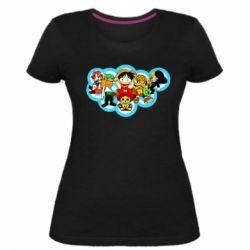 Жіноча стрейчева футболка One piece anime heroes