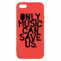 Чехол для iPhone5/5S/SE Only music can save us.