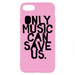 Чехол для iPhone 8 Only music can save us.