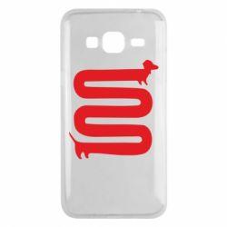 Чехол для Samsung J3 2016 оооочень длинная такса - FatLine