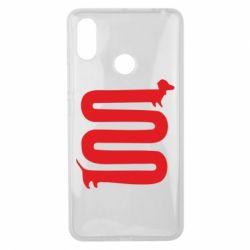 Чехол для Xiaomi Mi Max 3 оооочень длинная такса - FatLine