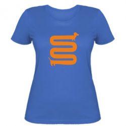 Женская футболка оооочень длинная такса - FatLine