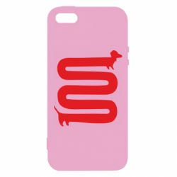 Чехол для iPhone5/5S/SE оооочень длинная такса - FatLine
