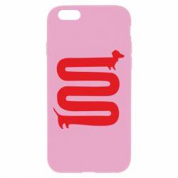 Чехол для iPhone 6 Plus/6S Plus оооочень длинная такса - FatLine