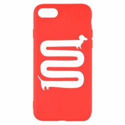 Чехол для iPhone 7 оооочень длинная такса - FatLine