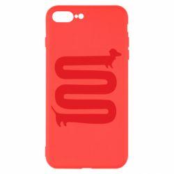 Чехол для iPhone 8 Plus оооочень длинная такса - FatLine