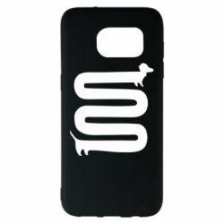 Чехол для Samsung S7 EDGE оооочень длинная такса - FatLine