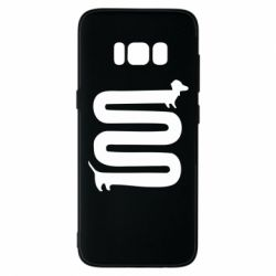 Чехол для Samsung S8 оооочень длинная такса - FatLine