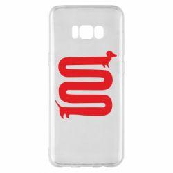 Чехол для Samsung S8+ оооочень длинная такса - FatLine