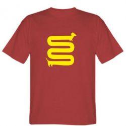 Мужская футболка дуууже довга такса - FatLine