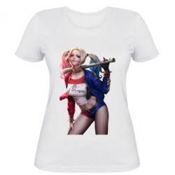 Женская футболка Опасная Харли Квинн