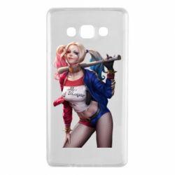 Чехол для Samsung A7 2015 Опасная Харли Квинн - FatLine