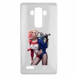 Чехол для LG G4 Опасная Харли Квинн - FatLine
