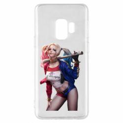 Чехол для Samsung S9 Опасная Харли Квинн - FatLine