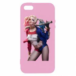 Чехол для iPhone5/5S/SE Опасная Харли Квинн - FatLine
