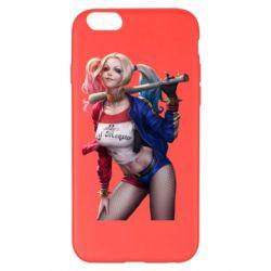 Чехол для iPhone 6 Plus/6S Plus Опасная Харли Квинн - FatLine