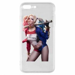 Чехол для iPhone 8 Plus Опасная Харли Квинн - FatLine