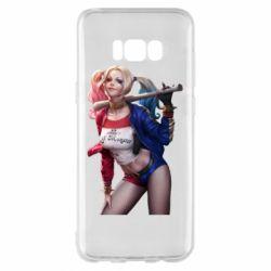 Чехол для Samsung S8+ Опасная Харли Квинн - FatLine