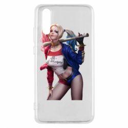 Чехол для Huawei P20 Опасная Харли Квинн - FatLine