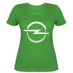 Женская футболка Opel Log - FatLine