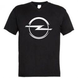 Мужская футболка  с V-образным вырезом Opel Log - FatLine