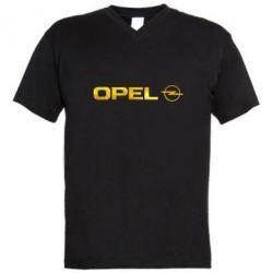 Мужская футболка  с V-образным вырезом Opel Logo Голограмма