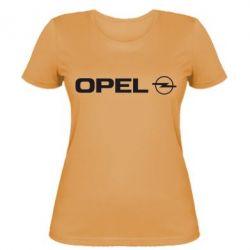 Женская футболка Opel Logo - FatLine