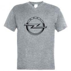 Чоловіча футболка з V-подібним вирізом Opel logo