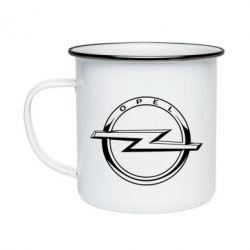 Кружка емальована Opel logo