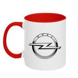 Кружка двоколірна 320ml Opel logo