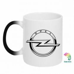 Кружка-хамелеон Opel logo