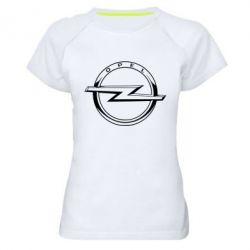 Жіноча спортивна футболка Opel logo