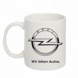 Кружка 320ml Opel Wir leben Autos
