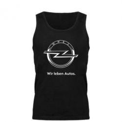 Мужская майка Opel Wir leben Autos - FatLine