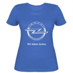 Женская Opel Wir leben Autos
